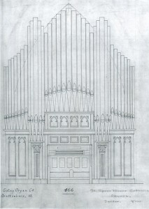 facade drawing pipe organ