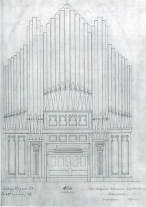 facade drawing pipe organ