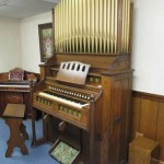 Chapel Organ with Decorative Pipes