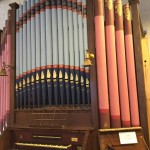 Pipe Organ with Colorful Pipes
